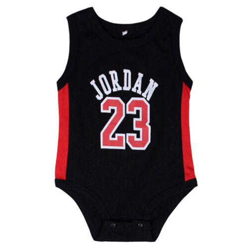 Baby Rompers Sleeveless JORDAN 23 Print  Rompers Jumpsuit Outfit