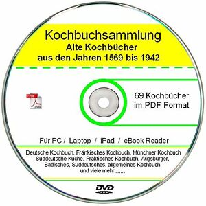 Kochbuch-Sammlung-auf-DVD-69-alte-Kochbuecher-Rezepte-als-E-book-Sammlung
