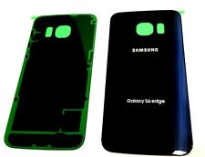 Original OEM Battery Back cover For Samsung Galaxy S6 Edge G925 ~SAPPHIRE BLACK