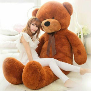 72in-Huge-Big-Large-Teddy-Bear-Plush-Soft-Toys-doll-Brown-Stuffed-Animals-Gift