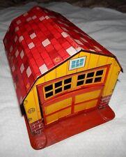 Vintage Marx Tin Litho Barn with Opening Garage Door