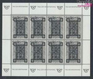 Autriche-2066S-mini-feuille-Feuille-miniature-impression-noir-neuf-1992-9063360