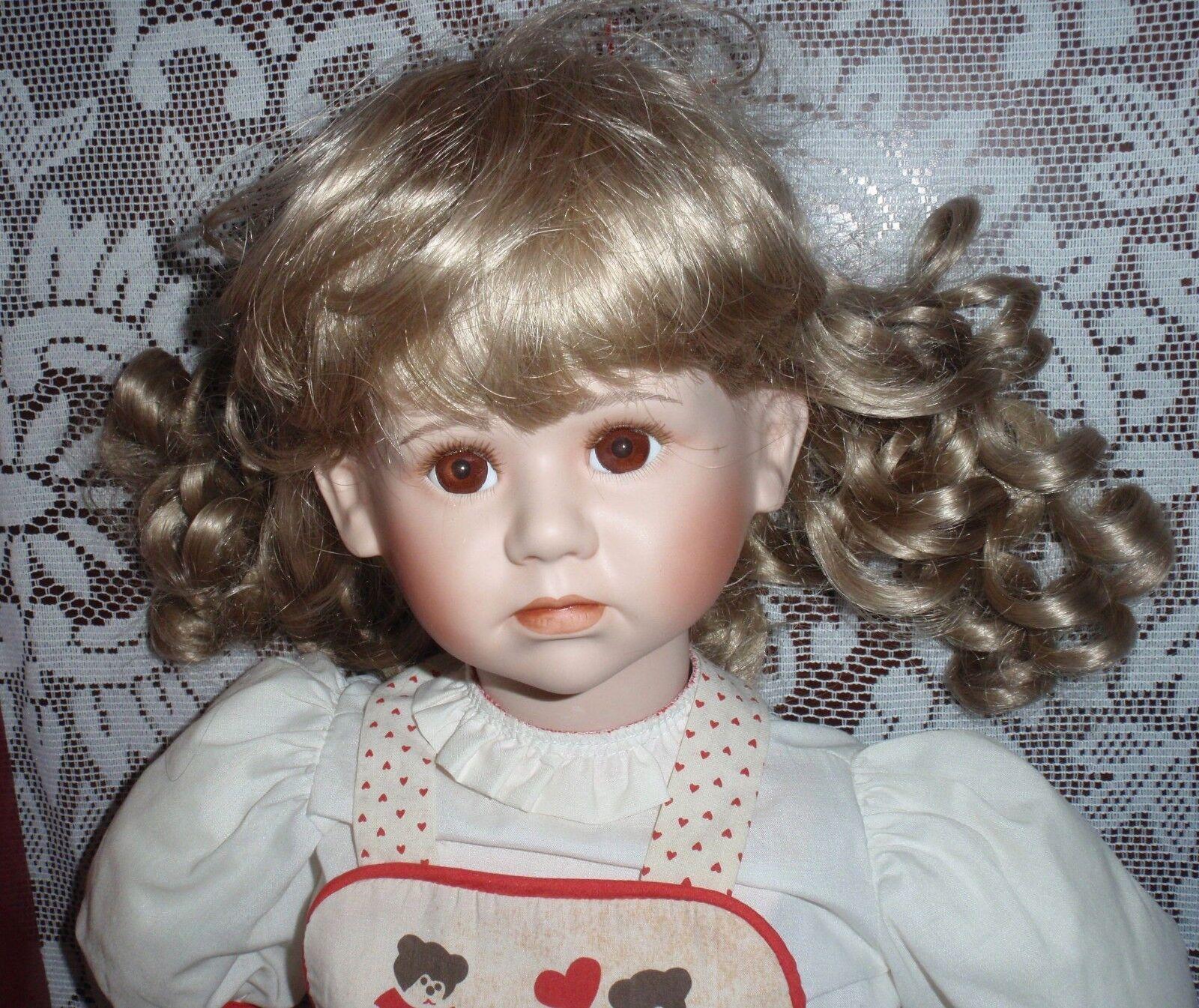 30  Muñeca de porcelana con lágrima por Elke Hutchens gadco Great American Doll Company