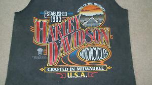 Vintage 1980/'s Harley Davidson Tank-Top