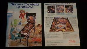 1x Atlantis - Bally - ORIGINAL NOS Promotional Advertising Flyer