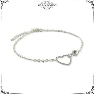 Crown Charm Bead For Bracelets Openwork Vintage Look Silver Plated Gift Bag