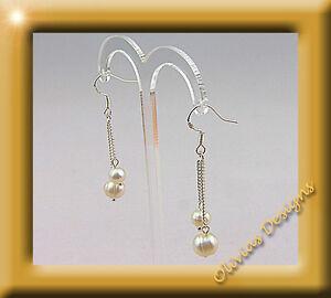 PLATA-esterilina-925-Pendientes-esterilina-Collar-perlas-de-Agua-Dulce
