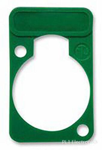 d-shell plaque vert Neutrik-dss-5