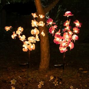 2-pack-Orchid-Flowers-Solar-Garden-Stake-Lamp-For-Yard-Outdoor-Patio-Decor