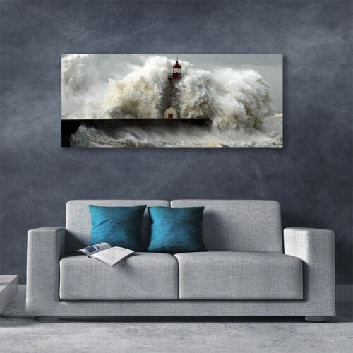Leinwand-Bilder Wandbild Canvas Kunstdruck 125x50 Leuchtturm Landschaft