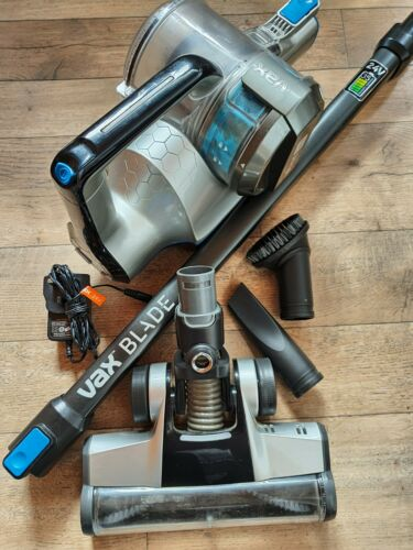 Vax Blade 24V Cordless Vacuum Cleaner ( Titanium and Blue) With Accessories.
