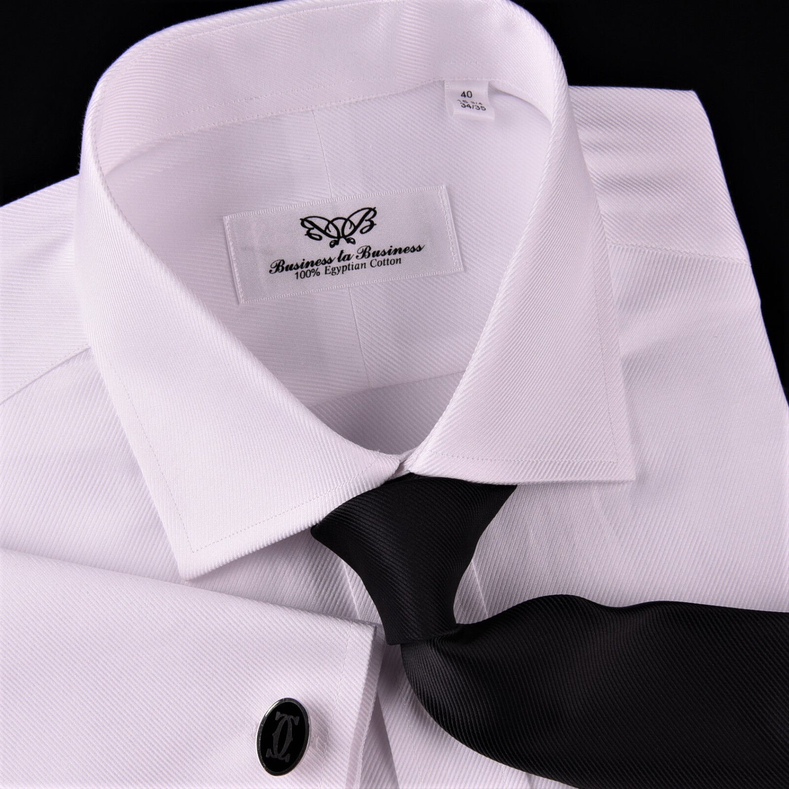 Weiß Twill Formal Dress Shirt Egyptian Cotton Formal Geschäft Sexy Luxury Weave