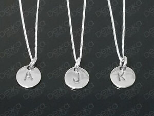 925-Sterling-Silver-Initial-Disc-Personalised-Letter-Monogram-Alphabet-Necklace