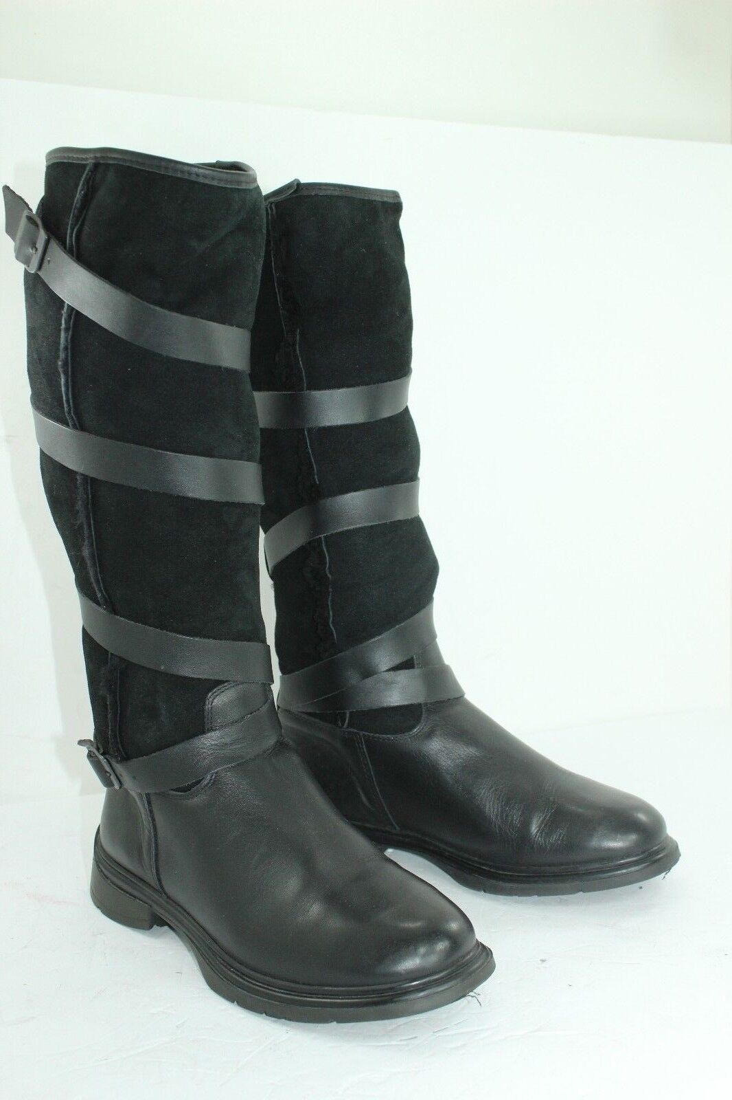 GENUINE SHEEP SKIN BOOTS MADE IN PORTUGAL SIZE 8 BLACK PAGE