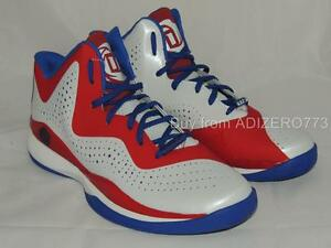 8919e07cc Adidas D Rose 773 III Mens Basketball Shoes C76584 Red White Blue