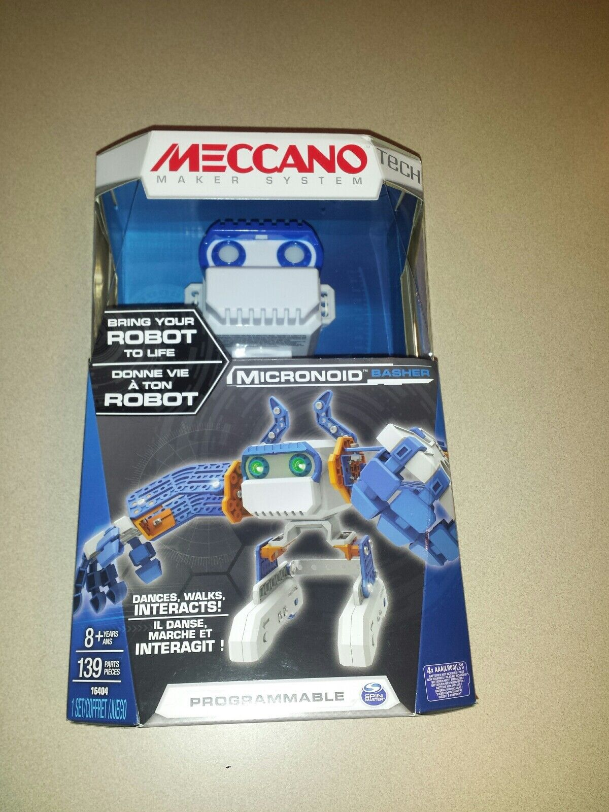 Meccano Micronoid bluee Basher  Programmable Bring Robot To Life NEW EASTER
