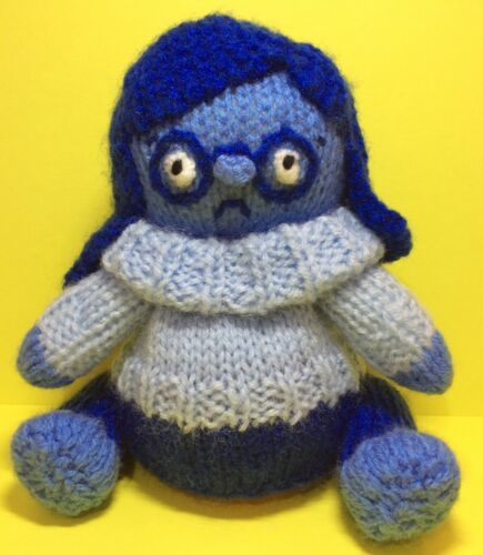 13cms Inside Out toy KNITTING PATTERN Sadness inspired choc orange cover