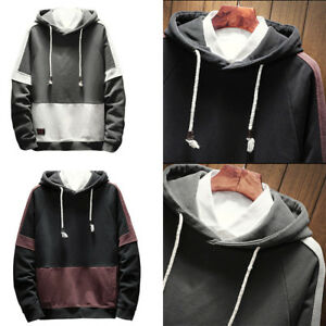 Men-Jumper-Hoodie-Sweatshirt-Hooded-Coat-Jacket-Sweater-Pullover-Cardigan-Top-UK