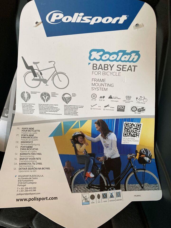 Cykelstol, op til 22 kg , Polisport
