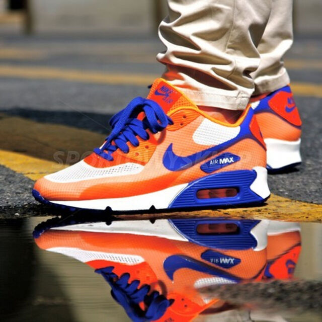 detailed look 81c4a e8853 Nike Air Max 90 Hyperfuse Premium Size 7.5 454460-100 HYPER Blue Citrus  CRMS for sale online   eBay