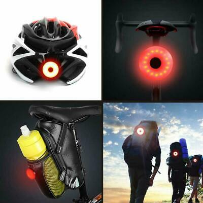 Red LED Bicycle Rear Light USB Rechargeable Taillight Waterproof Helmet Backpack