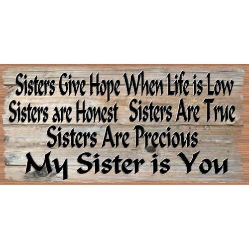 GS 582 Sisters Wood Sign Friend plaque Sister Plaque Friend Sign