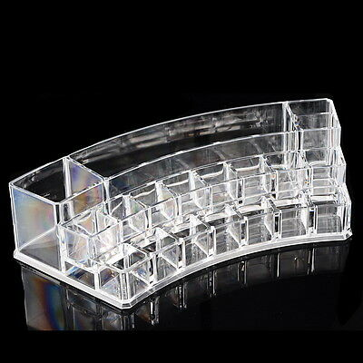 1PC Transparent Makeup Case Cosmetic Organizer Box Jewelry Storage Holder