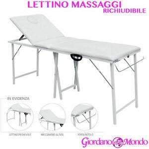 Lettino Pieghevole Estetista.Dettagli Su Lettino Massaggi Estetista Alluminio Pieghevole Porta Rotolo Custodia Portatile