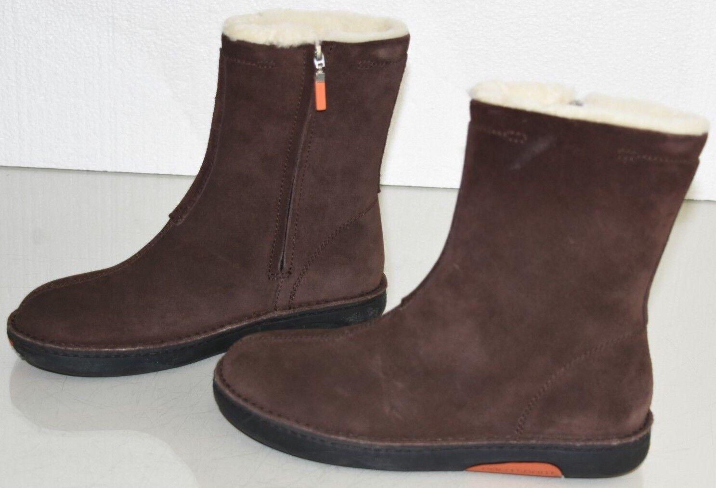 Nouveau Polo Sport RALPH LAUREN bottes d'hiver en daim marron doublé de fourrure chaussures 8.5