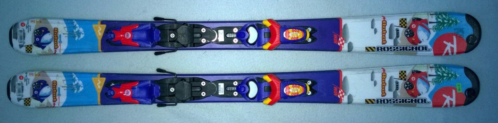 Ski Kinderski  Rossignol robot 110 cm mit mit mit Rrossignol Bindung + Skiservice a76f9f