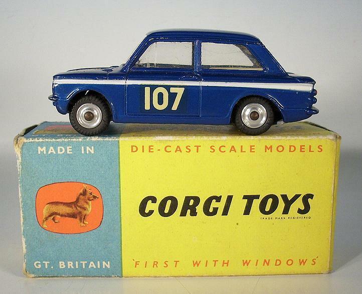 CORGI TOYS 328 Hillman Imp 1966 Monte Carlo Rally  107 blanc int. En parfait état, dans sa boîte neuf dans sa boîte  199