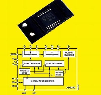 3 Stück Poti mit 2 x 10K digital program,64 taps,,SOIC−20 CAT5221WI-10-T1