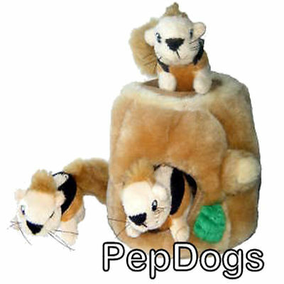 KYJEN Plush Puppies HIde & Seek Toy SMALL Dog Squeaky Interactive Puzzle Junior
