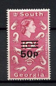 South-Georgia-1971-6-SG-31-50p-On-10s-Plankton-And-Krill-MNH-A10057