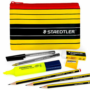 Staedtler-Noris-120-Pen-and-Pencil-Case-Set-Highlighter-Sharpener-Eraser
