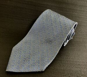 666c9468f776 Charvet Premium Light Blue Pale Yellow Silk Tie Woven Box Pattern ...