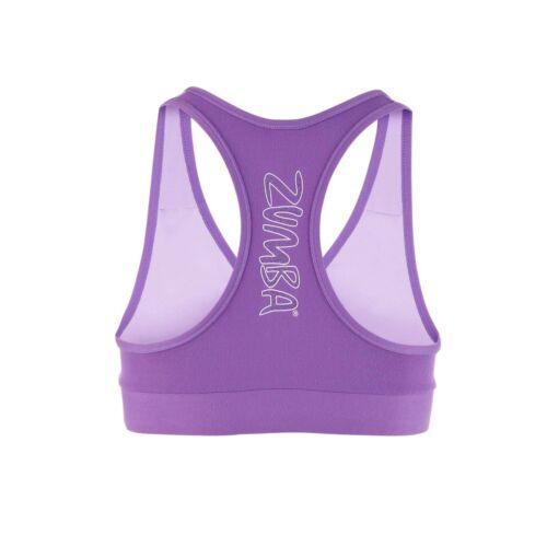 ZUMBA FITNESS 2 Pc.Set! Sweat Tee Top /& V-Bra M L BoatNeck Off-the-Shoulder Lt