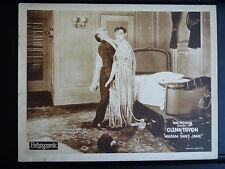 1925 MADAME SANS JANE - MAN IN DRAG LOBBY CARD -EARLY TRANS GAY - SILENT - ROACH