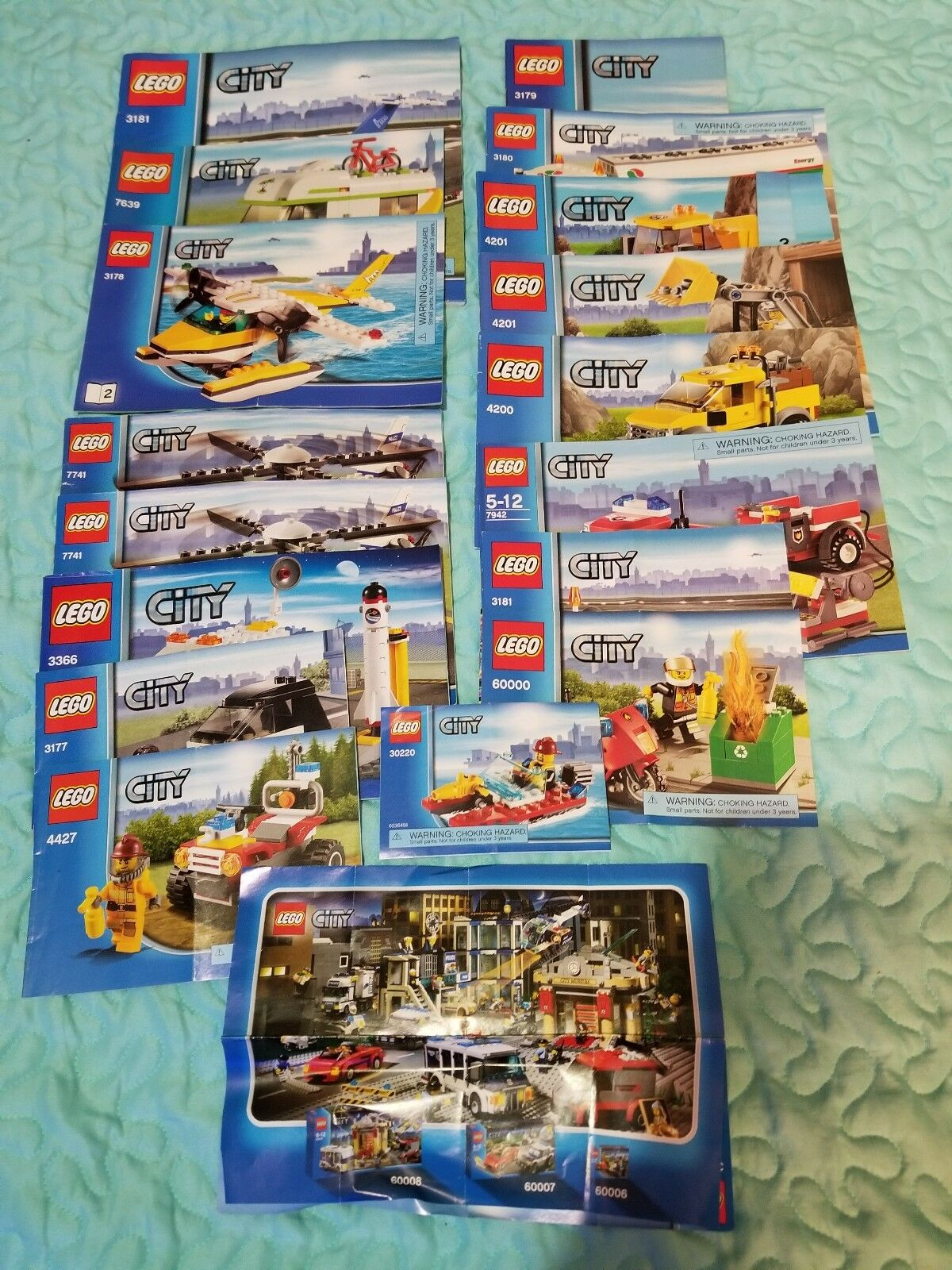 Lot of 75 Miscellaneous Lego Instruction Manuals ONLY   - City Ninjago HP SW