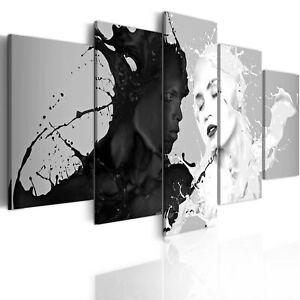 ABSTRAKT GESICHT FRAU VOGEL Wandbilder xxl Bilder Vlies Leinwand h-B-0013-b-a