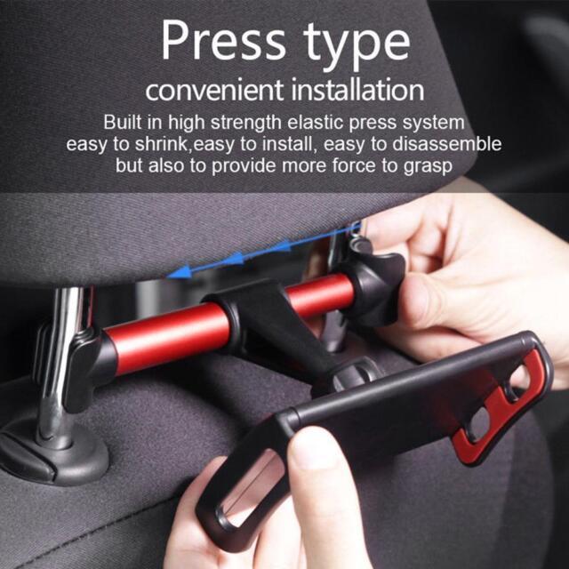 360˚ Rotating Car Back Seat Headrest Mount Holder Stand For Phone Tablet 4