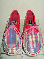 New Sz 10-12 Sperry Top-Sider White Slip On Boat Shoes Youth Girls BAHAMA JR