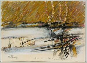 Carl-Heinz-Kliemann-Original-Zeichnung-von-1980-Pastell-handsigniert-gewidmet