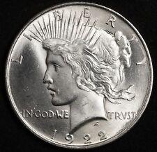 1922 Silver Peace Dollar BU