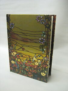 Louis-Comfort-Tiffany-Red-Flowers-and-a-Stream-Lined-Blank-Journal-Magnetic