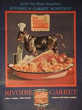 PUBLICITÉ 1966 RIVOIRE & CARRET RAVIOLI DU BOEUF TENDRE - ADVERTISING