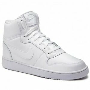 Details about NEW MEN'S NIKE EBERNON MID SNEAKER HIGH TOP TRAINER  AQ1773-100 SHOES WHITE/BLACK