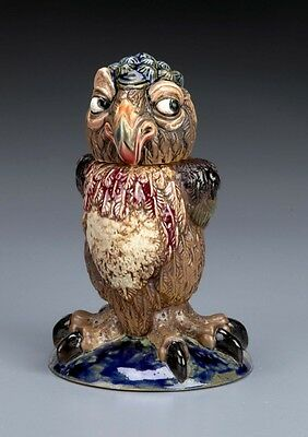 BURSLEM POTTERY GROTESQUE BIRD ROSIE EX COBRIDGE STONEWARE MARTIN BROTHERS