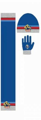 Fireman Sam Warm Winter Hat //gloves /& scarf set New