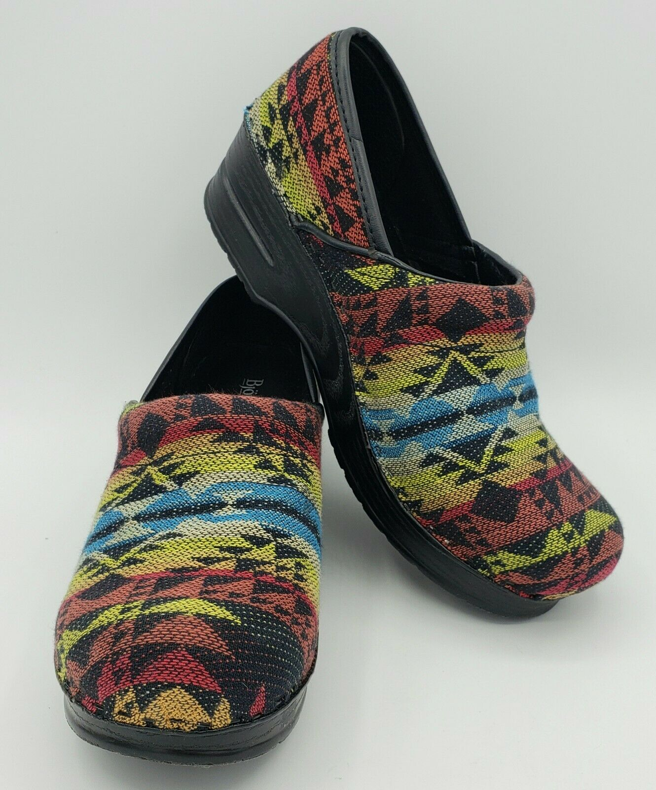 BJORNDAL Clogs Fabric Tapestry Mule Clogs